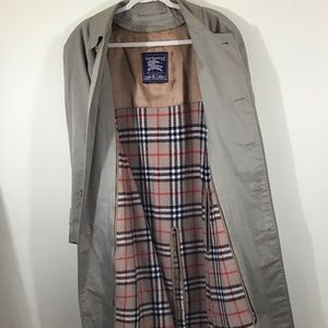 Burberry Trench Coat Nova Check Wool Lined 50
